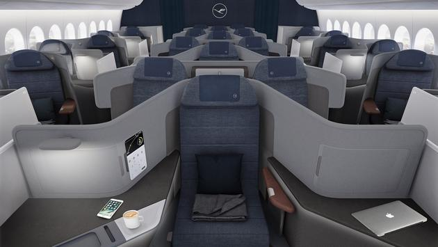 Lufthansa's new Business Class concept will offer customers the choice of configurations, including more privacy, longer beds, or more desk space.