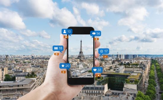 Social media loves travel.