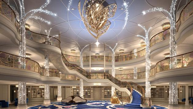 The Grand Hall aboard the Disney Wish