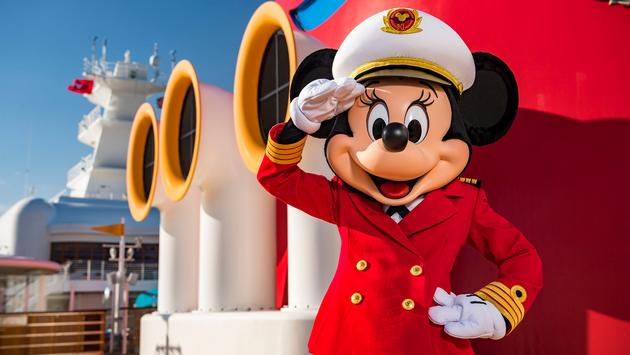Captain Minnie Mouse is delighting children aboard all Disney Cruise Line ships.