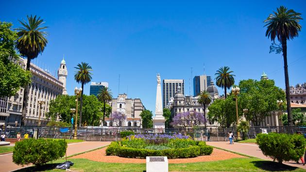 Beautiful view Buenos Aires capital of Argentina