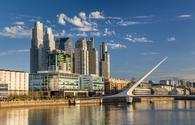 A Nice view of the cityscape. Puente de la Mujer