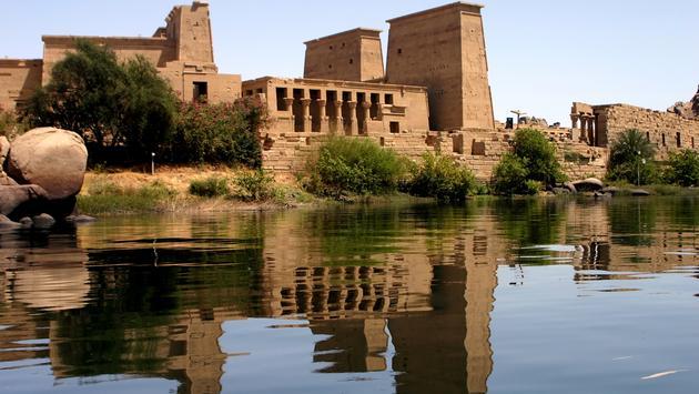 Egypt: Philae temple from nile (photo via jsanchez_bcn / iStock / Getty Images Plus)