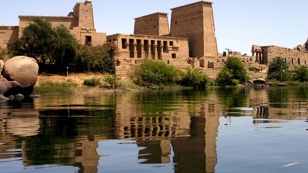 Egypt: Philae temple from nile (photo via jsanchez_bcn / iStock / Getty Images Plus)