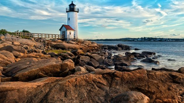 Annisquam lighthouse located near Gloucester, Massachusetts (photo via Maudib / iStock / Getty Images Plus)