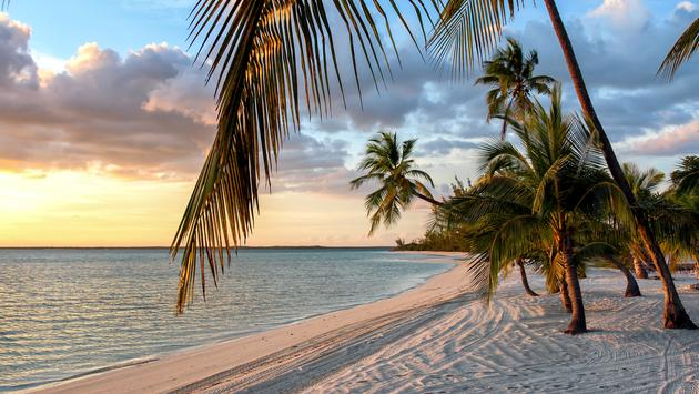 Peaceful sunset at the island of Andros, Bahamas (Photo via SHansche / iStock / Getty Images Plus)
