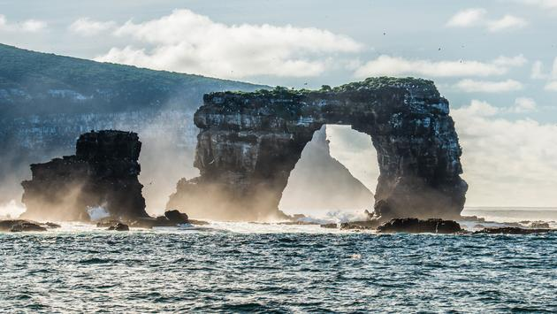 Landscape View of Darwin's Arch near Darwin Island of Galapagos. (photo via Eachat/iStock/Getty Images Plus)
