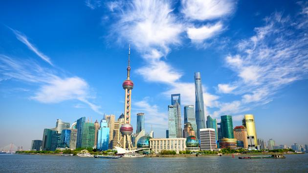 Shanghai skyline with modern urban skyscrapers, China (Photo via dibrova / iStock / Getty Images Plus)