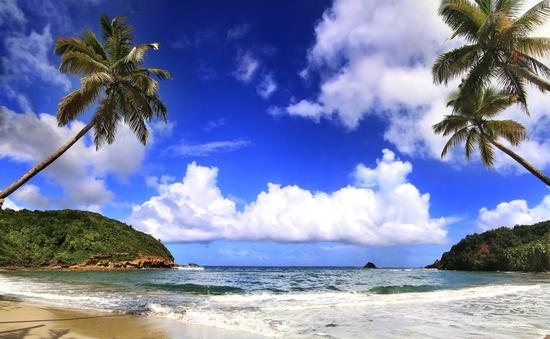 Beautifull beach in Dominica (photo via gydyt0jas / iStock / Getty Images Plus)