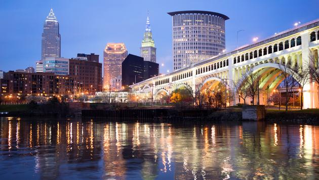 Cleveland Ohio Downtown City Skyline Cuyahoga River (Photo via ChrisBoswell / iStock / Getty Images Plus)