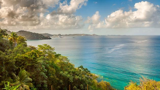 Sea Lagoo view in Grenada Capital City, St. George (photo via Paulo Costa/iStock/Getty Images Plus)