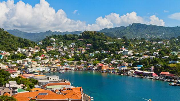 View of St. George seen from Fort George in Grenada (photo via oriredmouse/iStock/Getty Images Plus)