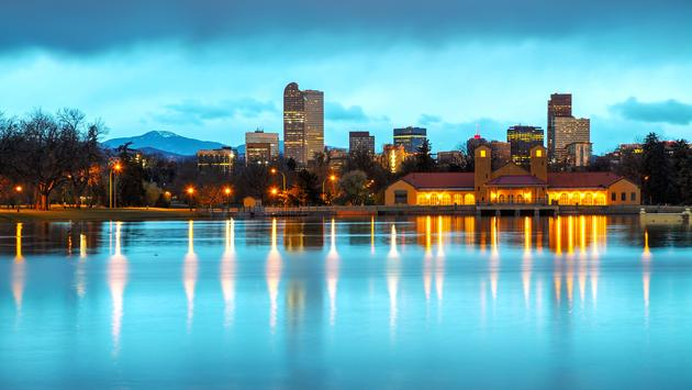 Downtown Denver, Colorado at the morning as seen from City Park (photo via AndreyKrav / iStock / Getty Images Plus)