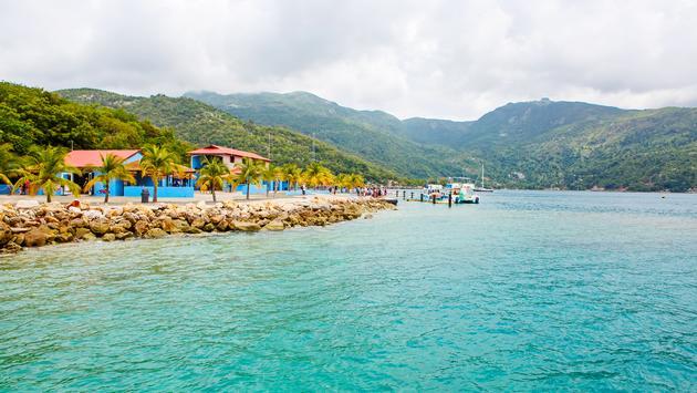 Beach and tropical resort, Labadee island, Haiti.  (photo via romrodinka/iStock/Getty Images Plus)