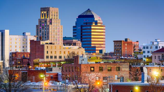 Durham, North Carolina, USA downtown skyline. (photo via SeanPavonePhoto / iStock / Getty Images Plus)