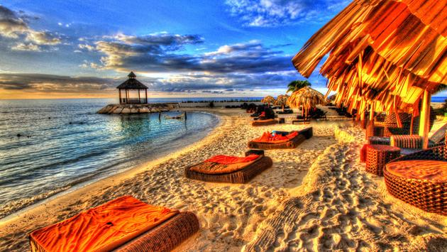 this photo was taken at a vacation resort in Montego Bay , Jamaica. (photo via Isabel_HP / iStock / Getty Images Plus)