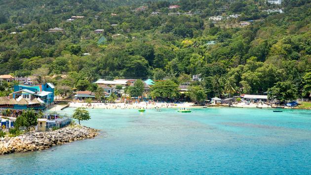 Beautiful coast of Ocho Rios, Jamaica (photo via mikolajn / iStock / Getty Images Plus)