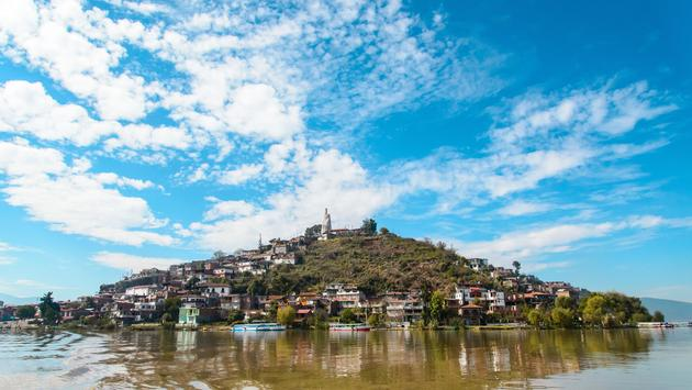 Little islands in Patzcuaro Lake-MexicoLittle islands in Patzcuaro Lake-Mexico (photo via Esdelval / iStock / Getty Images Plus)