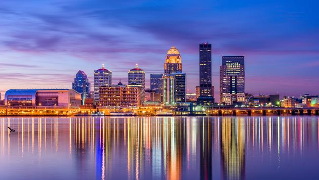 Louisville, Kentucky, USA skyline on the river. (Photo via Sean Pavone / iStock / Getty Images Plus)