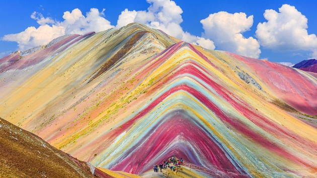 Vinicunca, Cusco Region, Peru. Montana de Siete Colores, or Rainbow Mountain. (Photo via sorincolac / iStock / Getty Images Plus)