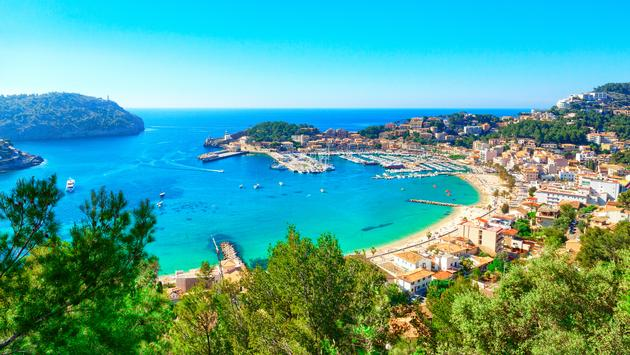 Port de Soller, Mallorca, Spain (photo via pixelliebe / iStock / Getty Images Plus)