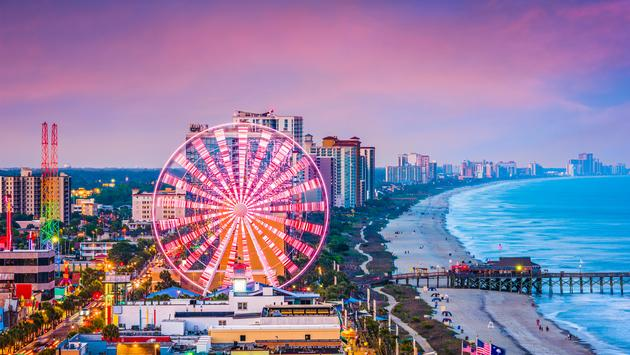 Myrtle Beach, South Carolina, USA city skyline. (Sean Pavone / iStock / Getty Images Plus)