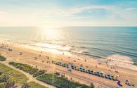 Myrtle Beach South Carolina aerial view at sunset (Melpomenem / iStock / Getty Images Plus)