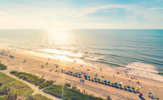 Myrtle Beach South Carolina aerial view at sunset (Melpomenem / iStock / Getty Images Plus)