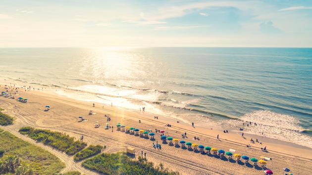 Aerial view of Myrtle Beach, South Carolina at sunset (Melpomenem / iStock / Getty Images Plus)