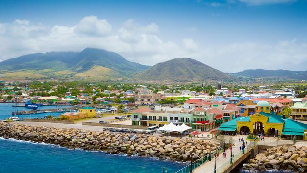Port Zante in Basseterre town, St. Kitts And Nevis (photo via mikolajn / iStock / Getty Images Plus)