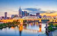 Nashville, Tennessee, USA downtown skyline on the Cumberland River. (Sean Pavone / iStock / Getty Images Plus)