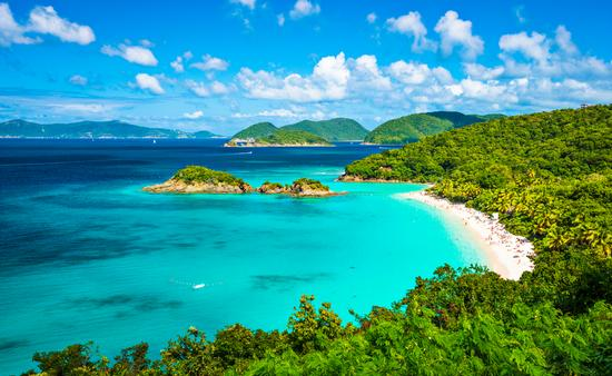 Trunk Bay, St John, United States Virgin Islands. (photo via SeanPavonePhoto / iStock / Getty Images Plus)