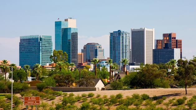 Skyscrapers in downtown Phoenix (Photo via photoquest7 / iStock / Getty Images Plus)