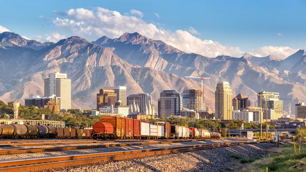 Downtown Salt Lake City skyline Utah in USA (photo via  f11photo / iStock / Getty Images Plus)