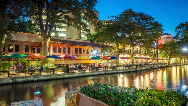 The famed Riverwalk in San Antonio, Texas.