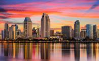 Downtown skyli.ne of San Diego, California.