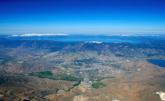 Aerial Photography of Carson City and Lake Tahoe (Photo via OwensImaging / iStock / Getty Images Plus)