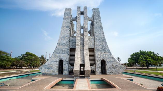 Nkrumah Memorial Park - First president of independent Ghana, West Africa (photo via Jacek_Sopotniki/iStock/Getty Images Plus)