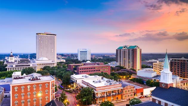Tallahassee, Florida, USA downtown skyline. (photo via SeanPavonePhoto / iStock / Getty Images Plus)