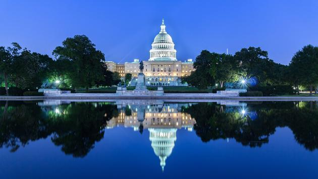 The United Statues Capitol Building, Washington DC, USA. (photo via Tanarch / iStock / Getty Images Plus)