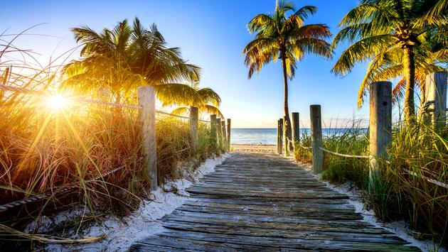 Pathway to the beach in Florida