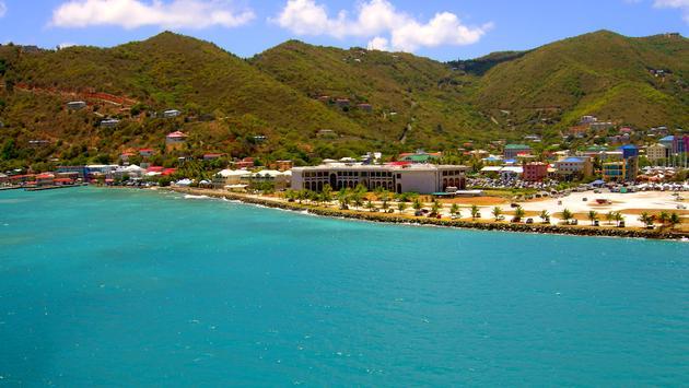 Tortola harbour in the West Indies