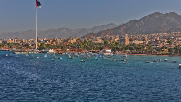View of the city of Aqaba Jordan on a windy day (Photo via BethWolff43 / iStock / Getty Images Plus)