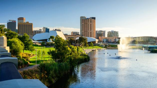 In 2013 Adelaide was ranked as the fifth-most liveable city in the world. Estimated resident population is about 1.3 million (photo via moisseyev/iStock/Getty Images Plus)