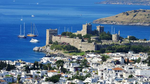 View of Bodrum harbor during hot summer day. Turkish Riviera (Photo via monticelllo / iStock / Getty Images Plus)