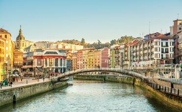 bilbao old town views (Photo via on chica parada / iStock / Getty Images Plus)