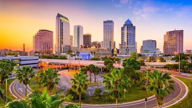 Tampa, Florida, USA downtown skyline. (photo via SeanPavonePhoto / iStock / Getty Images Plus)