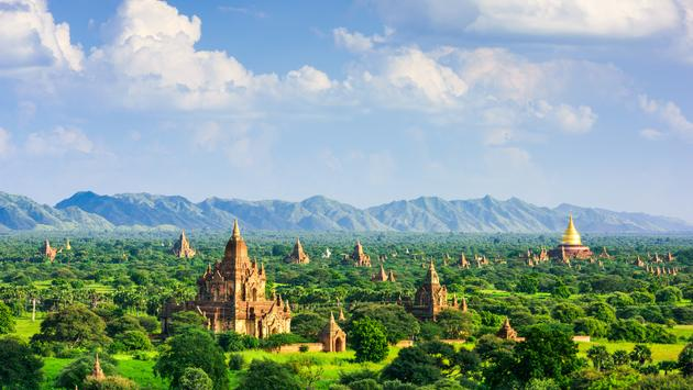 Bagan, Myanmar temples in the Archaeological Zone. (SeanPavonePhoto / iStock / Getty Images Plus)