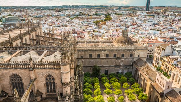 Seville Spain (photo via PocholoCalapre / iStock / Getty Images Plus)
