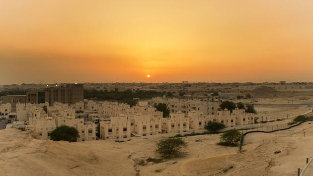 sunset from the old riffa fort (photo via azaharphotography / iStock / Getty Images Plus)